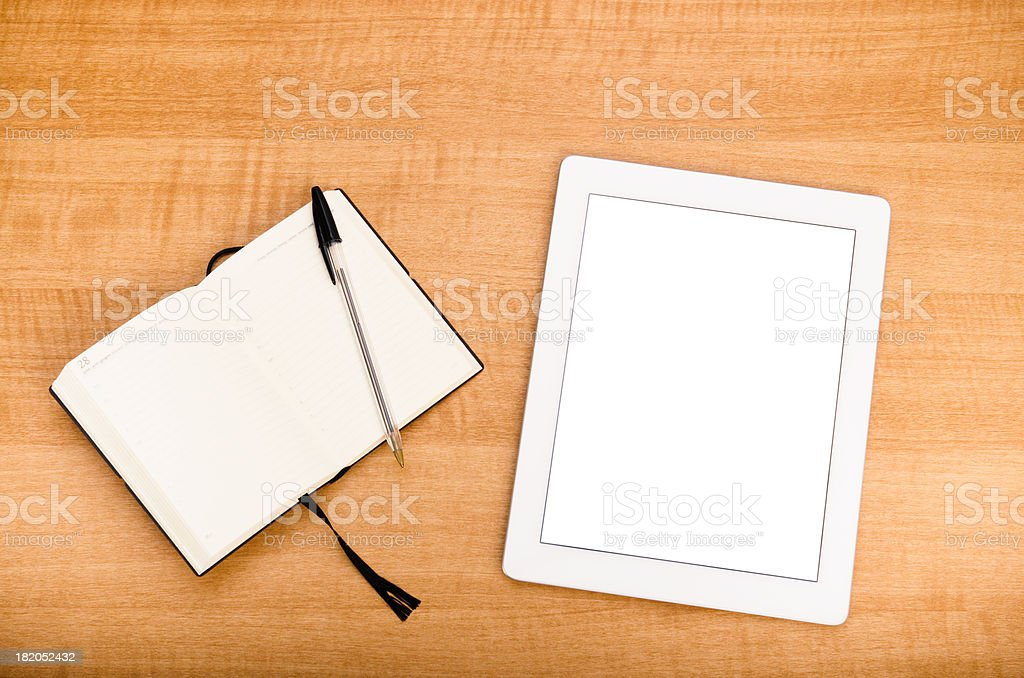 Work office with digital tablet royalty-free stock photo