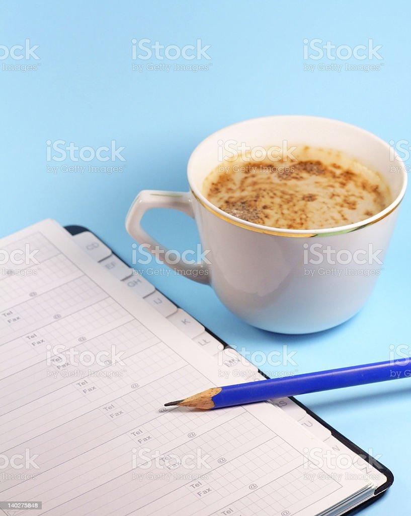 Work on coffee pause stock photo