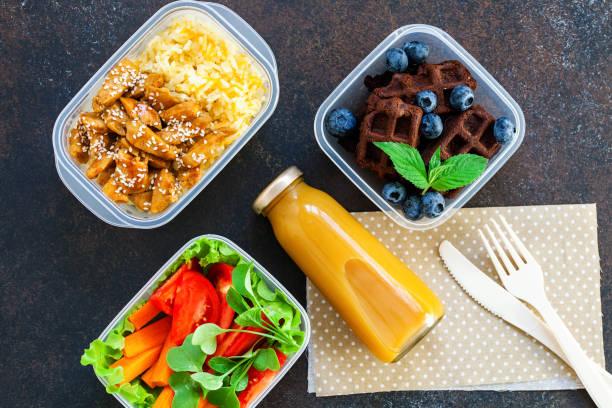 Arbeit oder Schule oder Diätkonzept – Foto