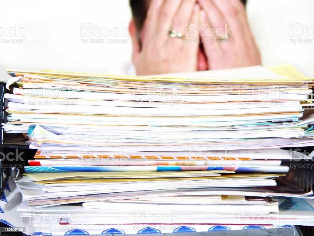 work overload - enough already! royalty-free stock photo