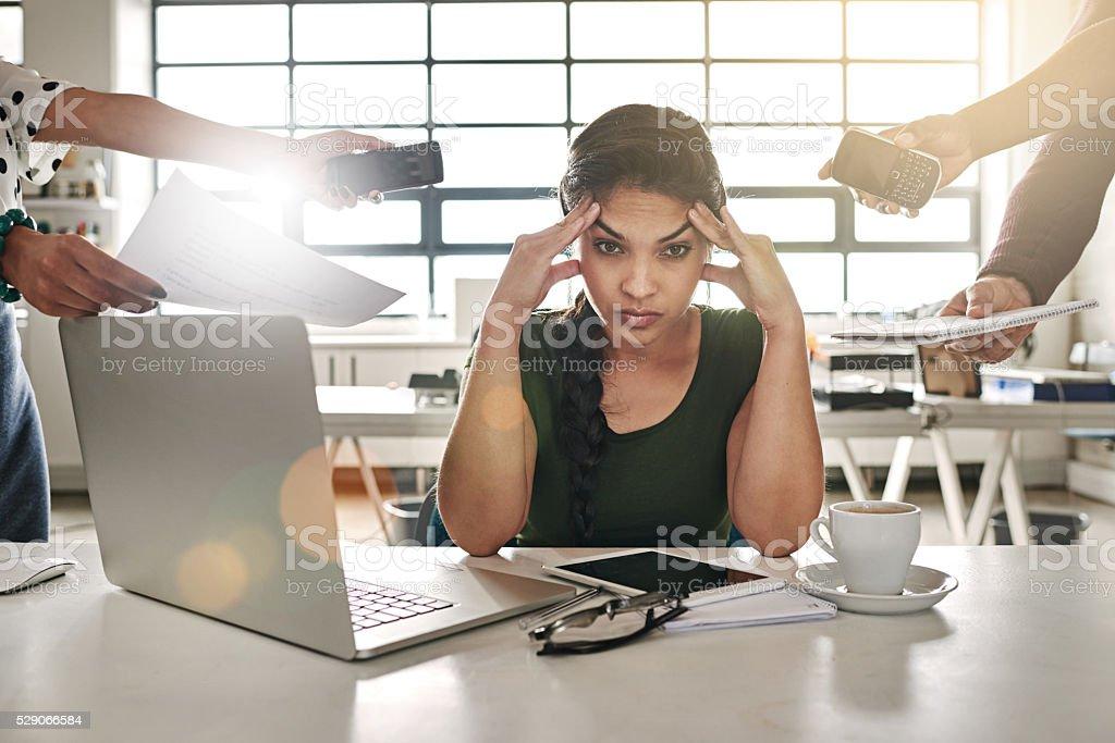 Work overload stock photo