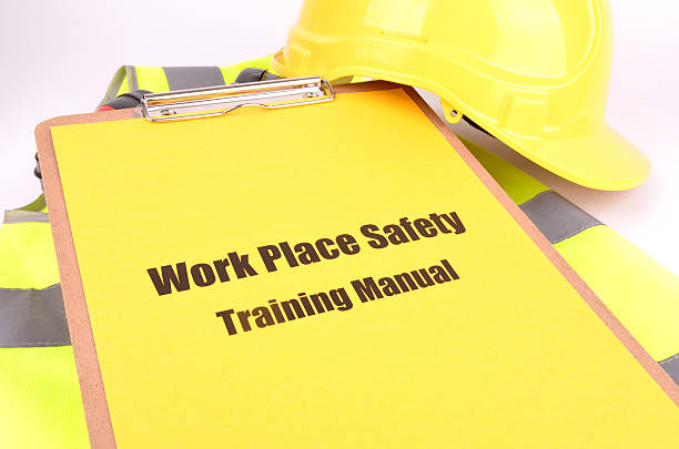 Work Place Health and Safety Guide stock photo