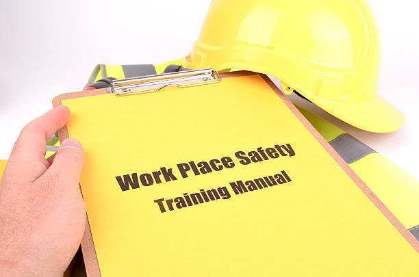 Work Place Safety Training Manual stock photo