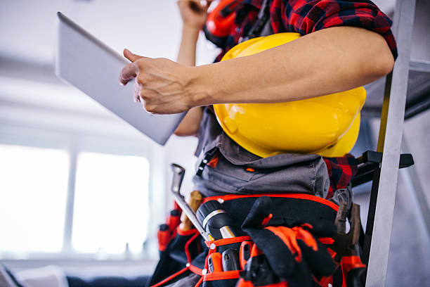 work planning - tool belt stock photos and pictures