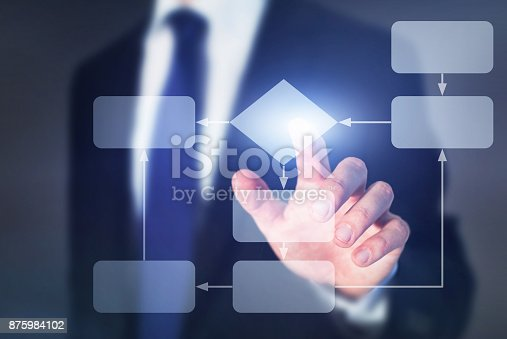 istock work process business concept, flow chart 875984102