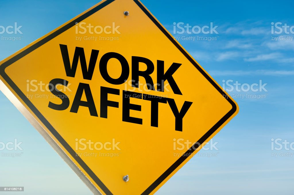 Work safety / Warning sign (Click for more) stock photo