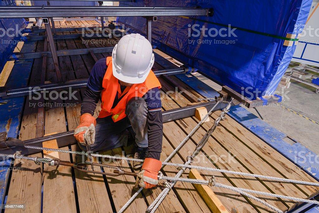 work slings stock photo