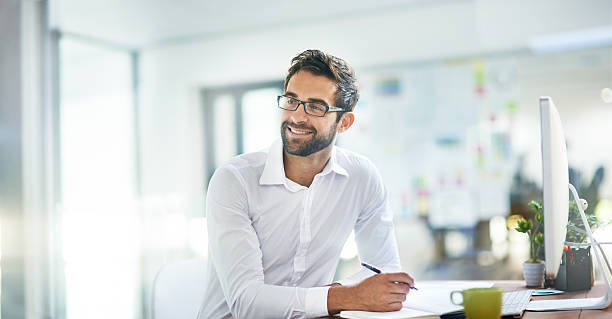 work smarter, not harder - office worker stock photos and pictures