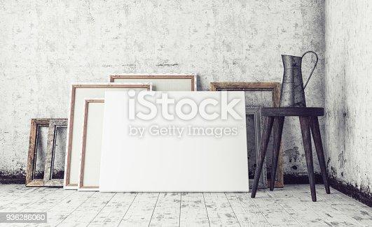 istock Work Space In Artist Studio 936286060
