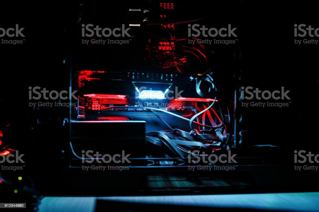 work station gaming pc stock photo