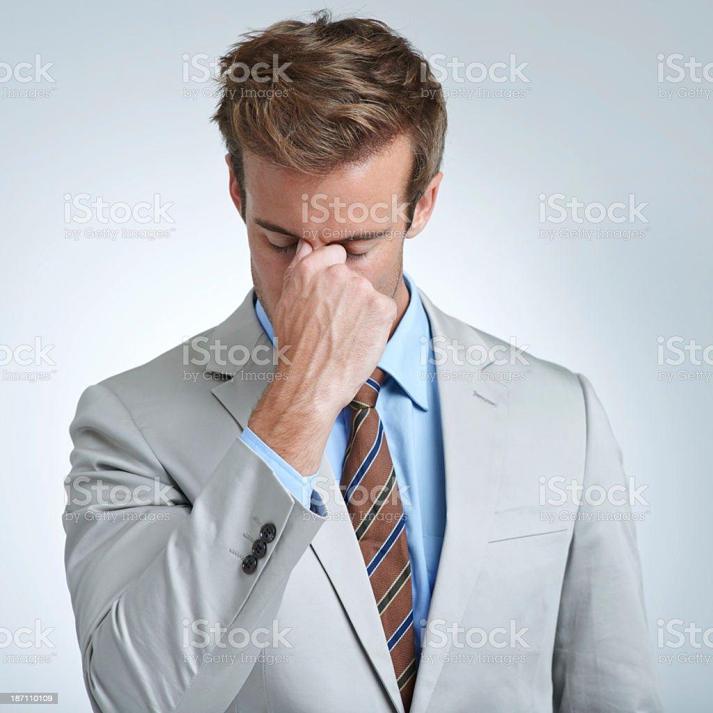 Work stress royalty-free stock photo