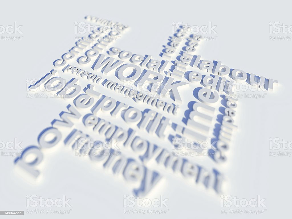 Work Tagcloud royalty-free stock photo