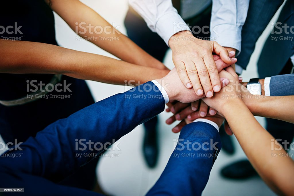 Work together to win together stock photo