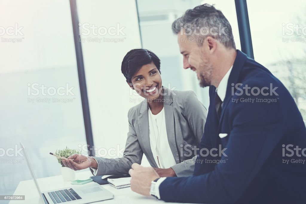 Work together, win together stock photo