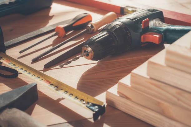 arbeitsgerät. instrument. bau. - diy ordner stock-fotos und bilder