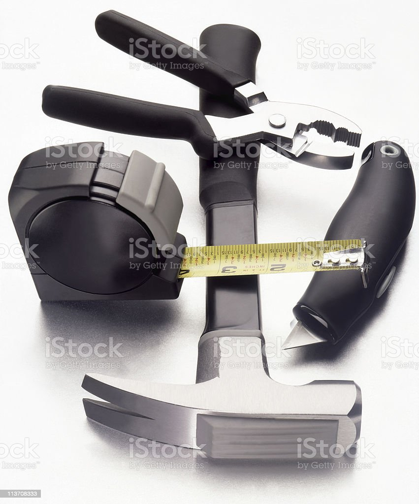 work tools cut out on white royalty-free stock photo