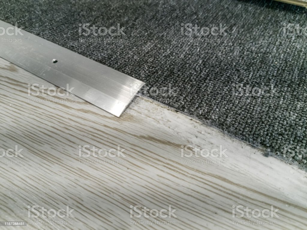 Work Tools For Laying Carpet Laying Flooring Stock Photo