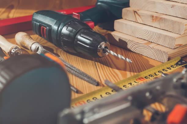 arbeitsmittel. instrumente. - diy ordner stock-fotos und bilder