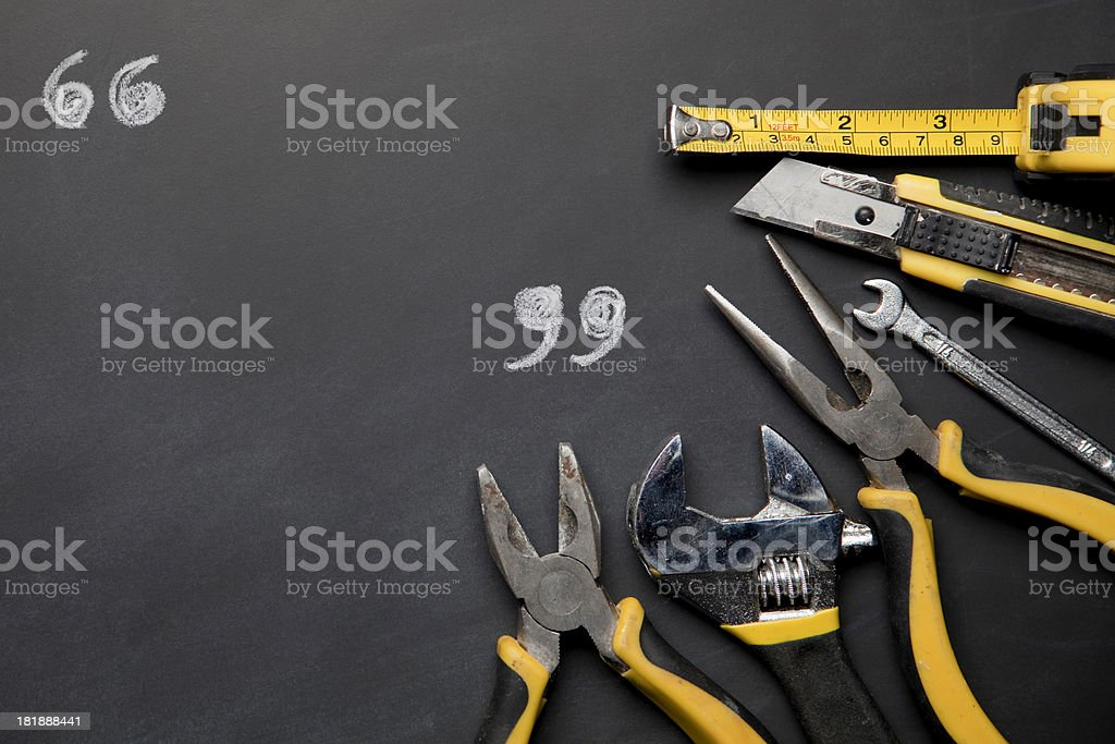 Work tools with copy space royalty-free stock photo