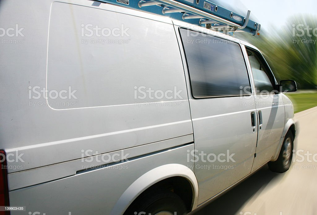 Work van on the go royalty-free stock photo