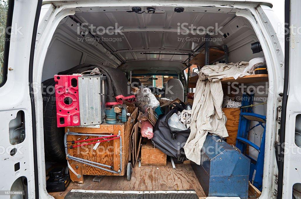 Work van royalty-free stock photo