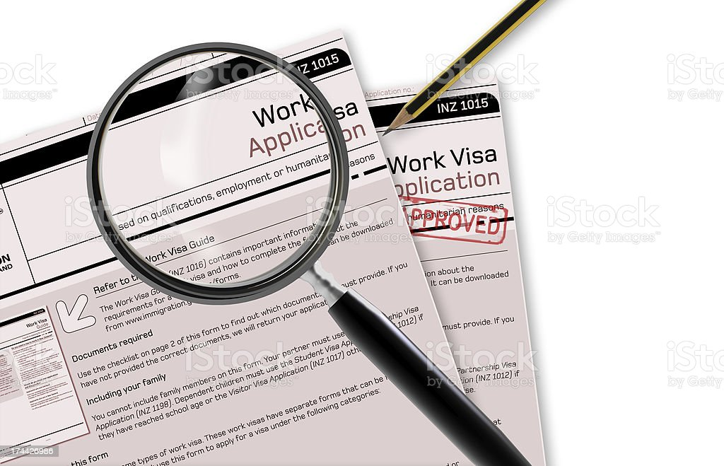 Work Visa Application stock photo