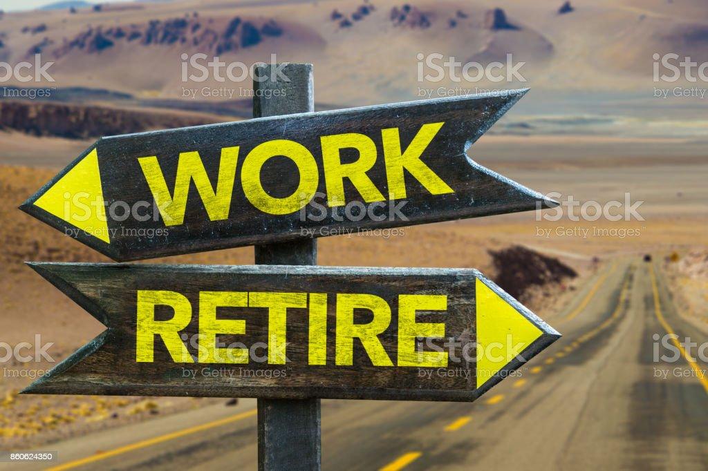 仕事対引退 ストックフォト