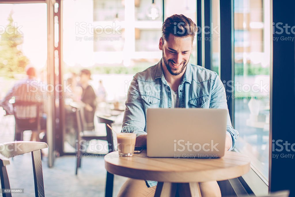 I work when I'm inspired stock photo