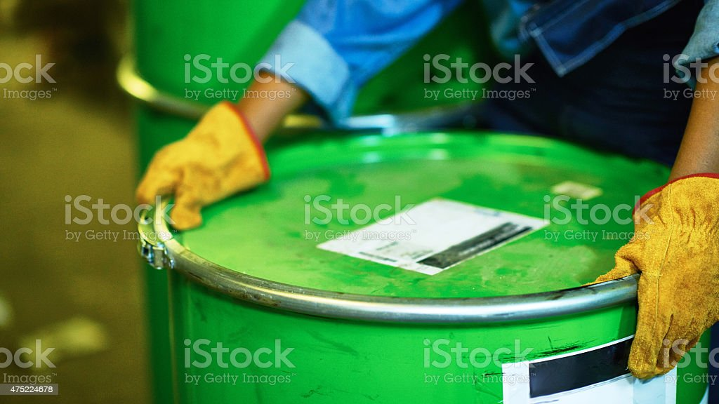 Work with harmful materials stock photo