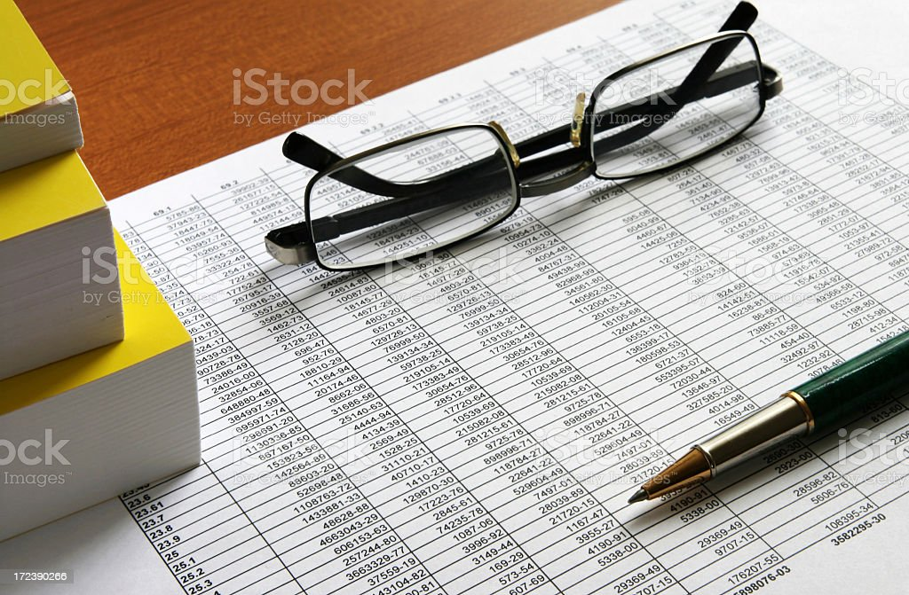 work with numerals and finance royalty-free stock photo