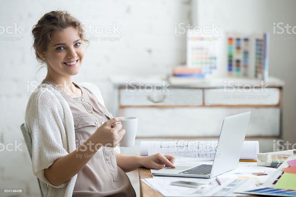 Work with pleasure stock photo