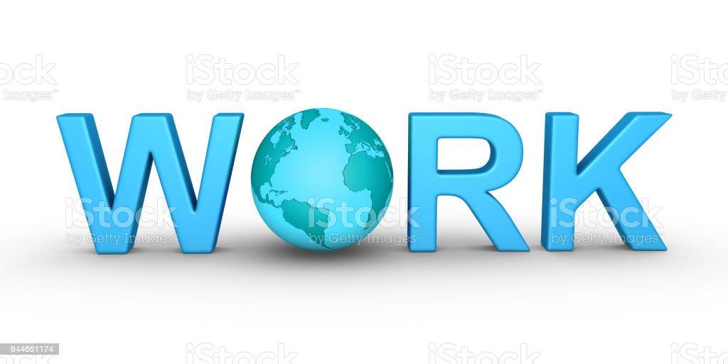 Work worldwide stock photo
