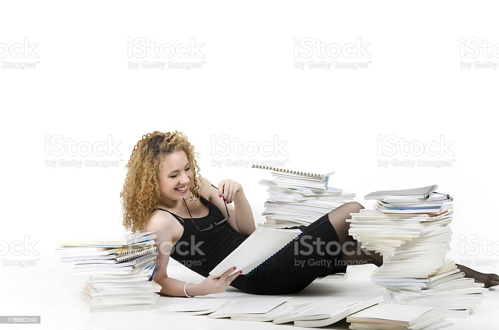 Workaholic Woman royalty-free stock photo