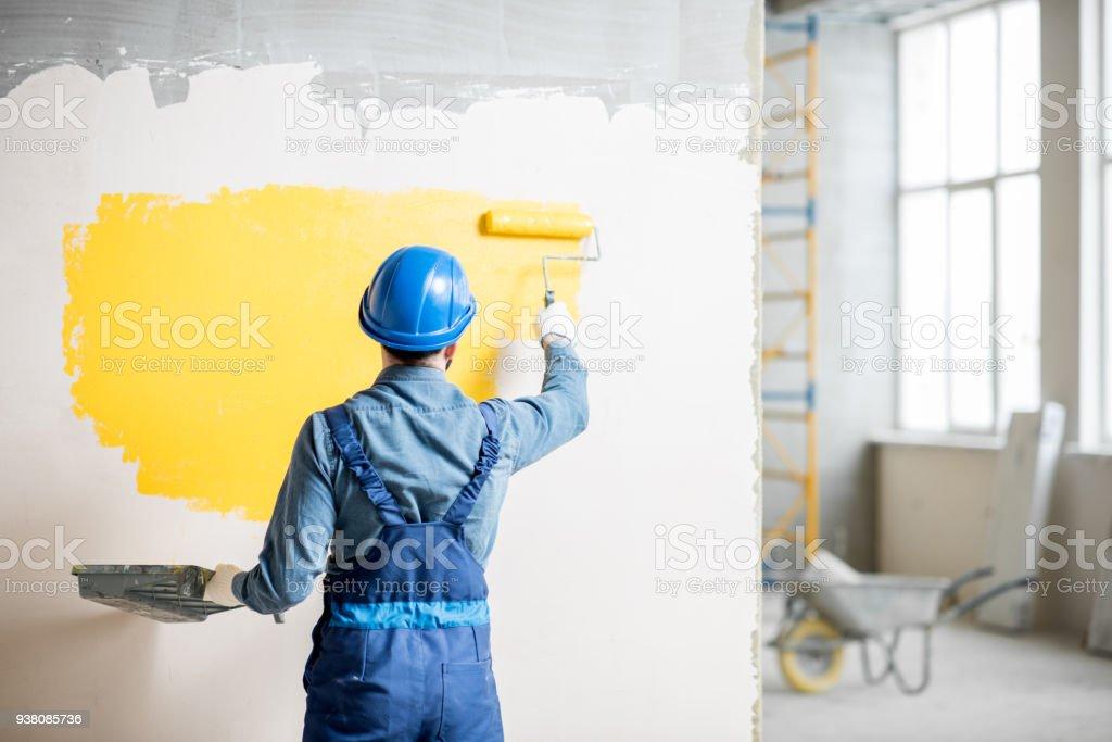 Workamn Malerei Wand im Innenbereich – Foto