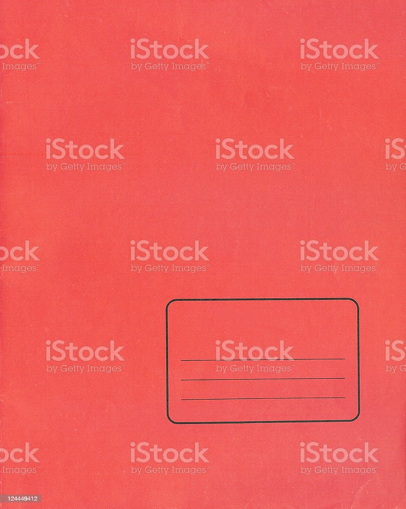 Workbook Cover royalty-free stock photo