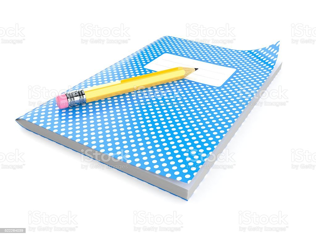 Workbook stock photo