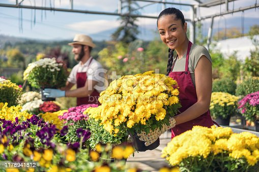 istock Workday at the garden center 1178941812