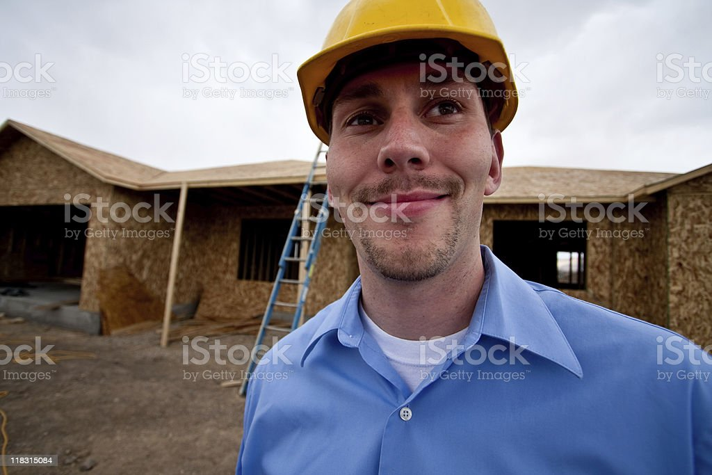 Worker at Construction Site royalty-free stock photo