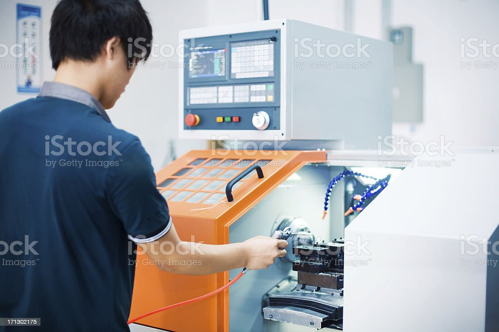 worker at tool workshop royalty-free stock photo
