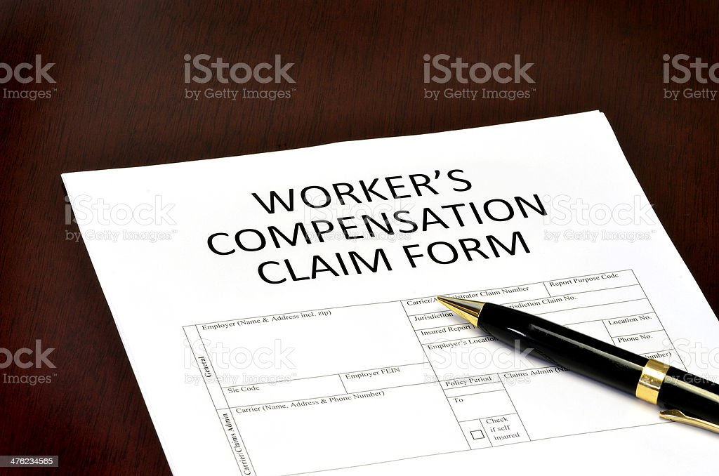 Worker Compensation Form stock photo