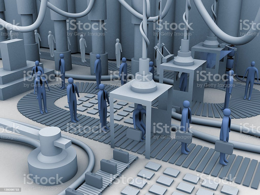 Worker factory royalty-free stock photo