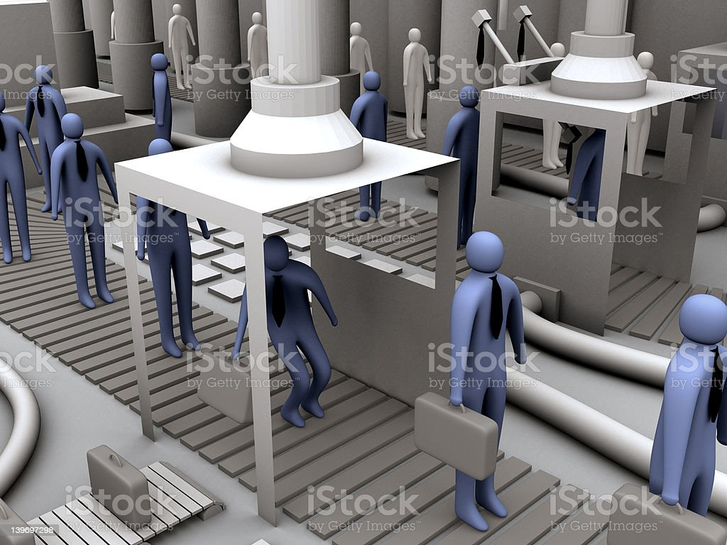 Worker factory #2 royalty-free stock photo