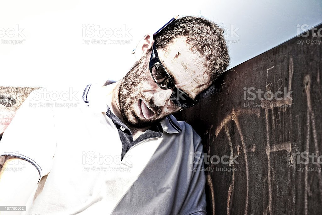worker failed royalty-free stock photo