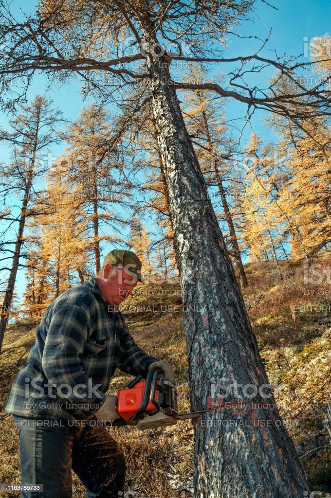 Ust-Nera, Yakutia, Russia - September 17, 2009: A worker from the...