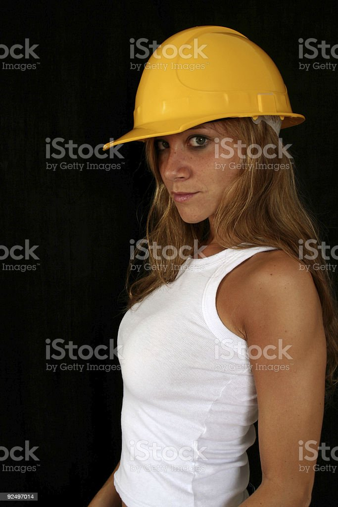 Worker Girl royalty-free stock photo