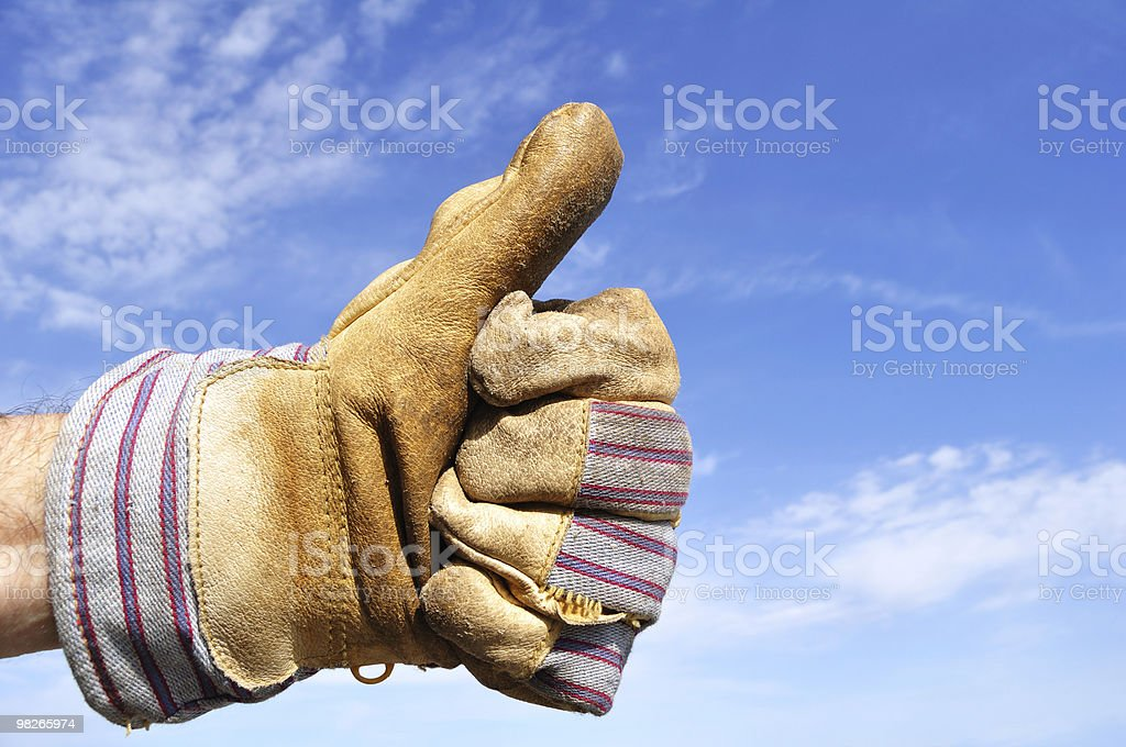 Worker Giving the Thumbs Up Sign royalty-free stock photo