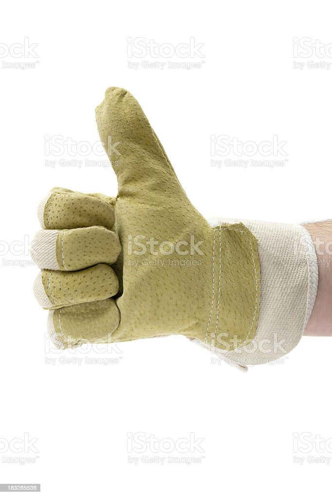 Worker Giving Thumbs Up royalty-free stock photo