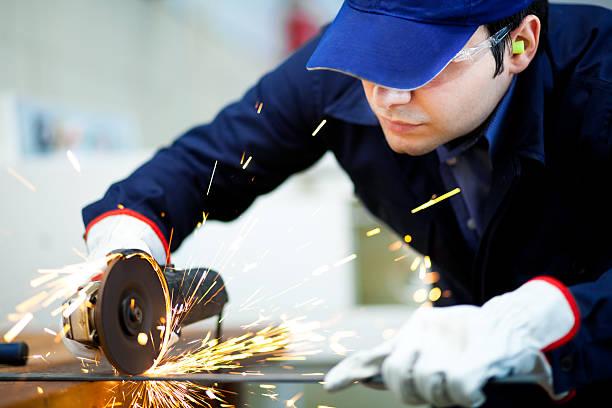 員挽く金属プレート - 金属工 ストックフォトと画像