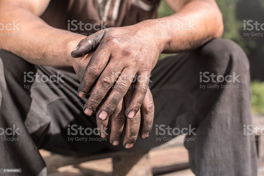 Worker Hands. stock photo