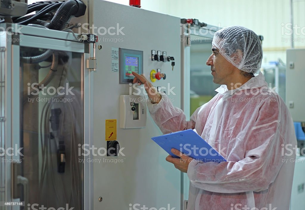 Worker in Factory stock photo